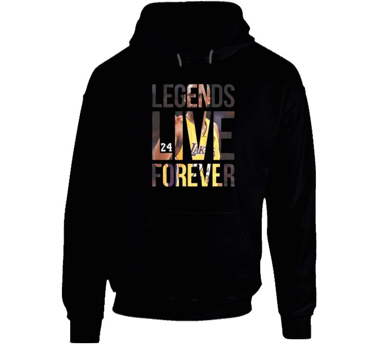 Kobe Bryant Leends Live Forever Hoodie