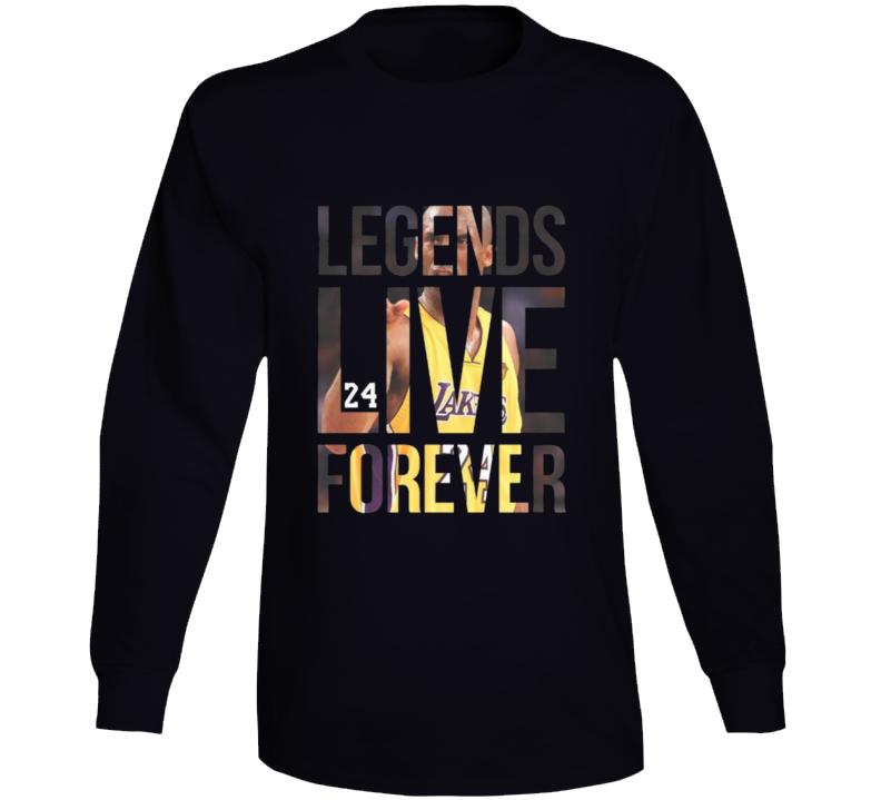Kobe Bryant Leends Live Forever Long Sleeve