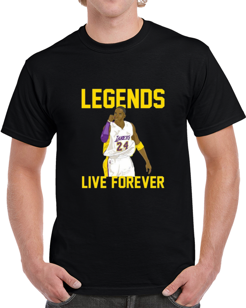 Kobe Bryant Legends Live Forever T Shirt