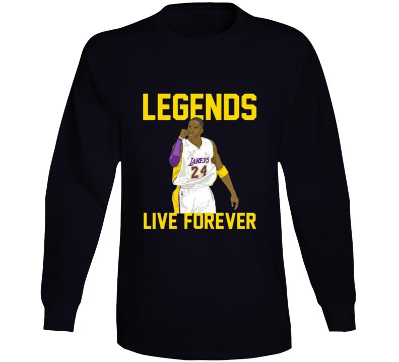 Kobe Bryant Legends Live Forever Long Sleeve