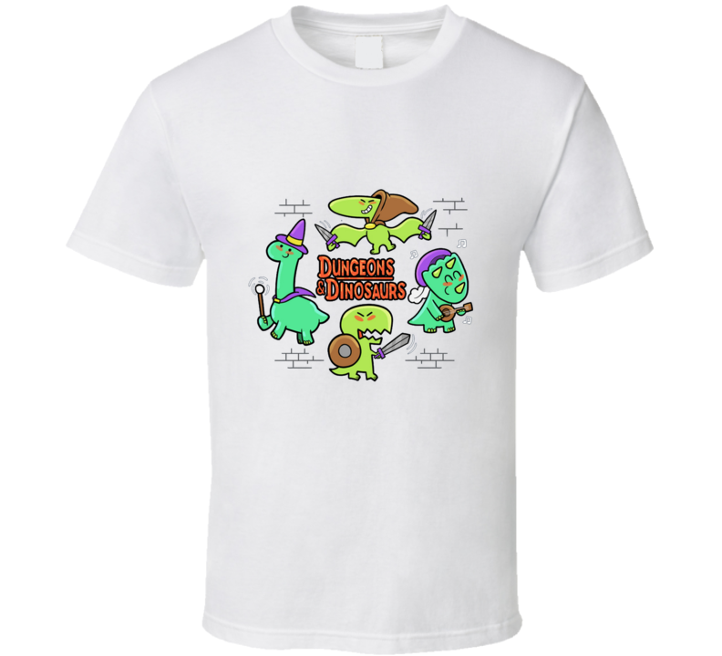 Dungeons & Dinosaurs Dinosaur, Dinos, Cute, D20, Role Playing Game, Rpg, Pen And Paper T Shirt