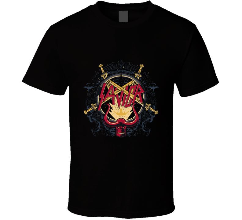 Savior Logo, Slayer, Thrash Metal, Music, Pop Culture, Comics, Anung Un Rama T Shirt