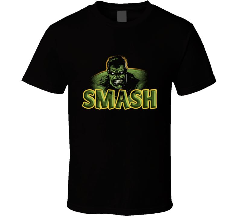 Smash  Smash, Green, Angry, Cartoon T Shirt