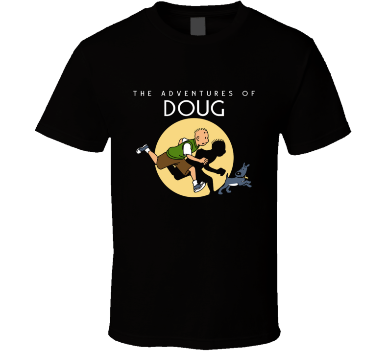 The Adventures Of Doug 90s, Mashup, The Adventures Of Tintin, Mystery, Geek, Pop Culture T Shirt
