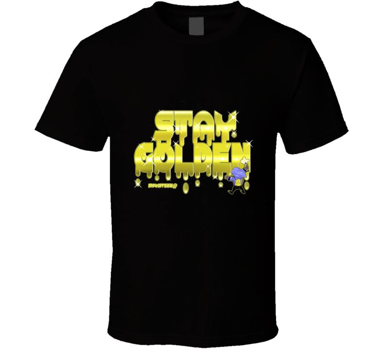Staygolden Cartoon, Humor, Illustration, Color, Skull T Shirt