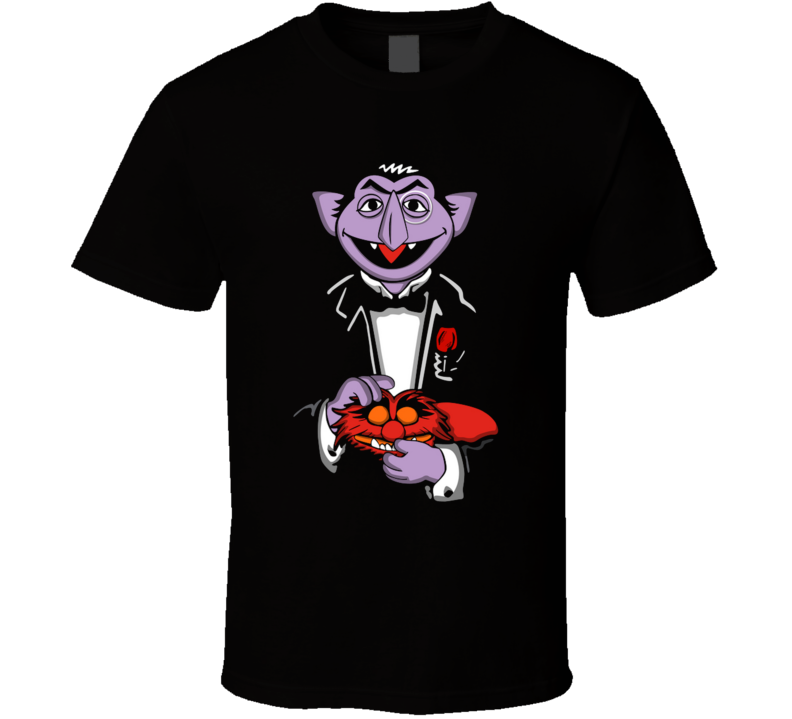 The Countfather  Count Von Count, The Godfather, Jim Henson, Animal Muppets, School, Education, On Sale T Shirt