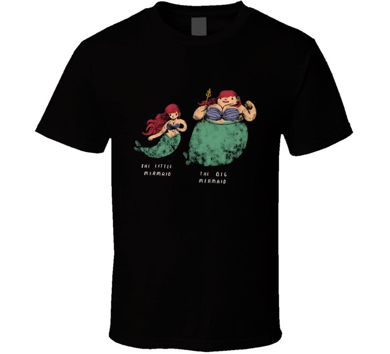 The Big Mermaid Mermaid, The Little Mermaid Shirt, Ariel Shirt, The Big Mermaid, Mermaids, Fat T Shirt