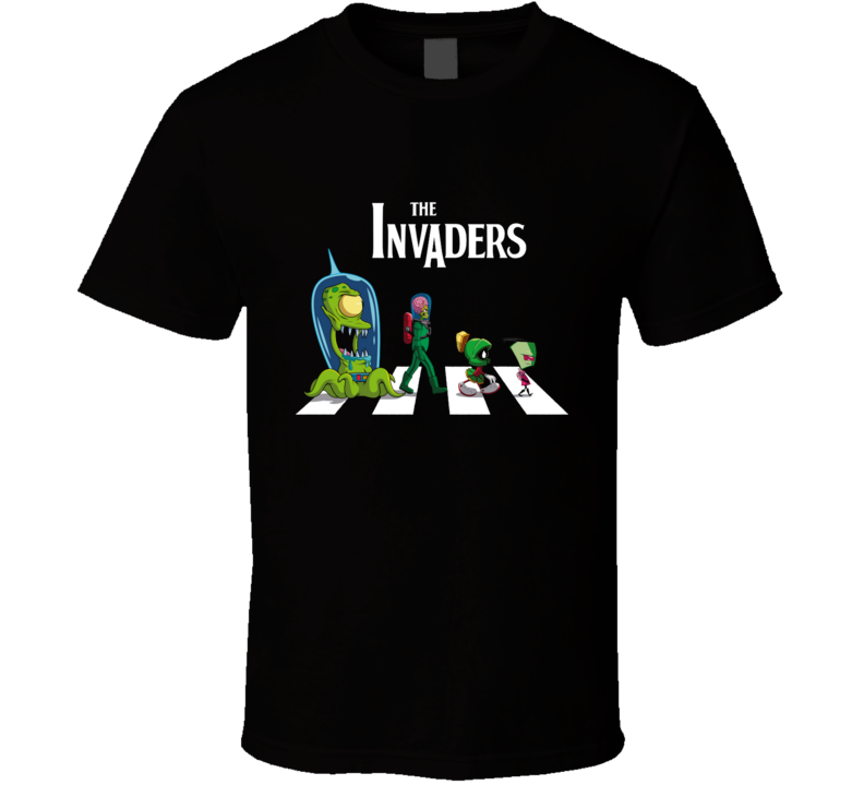 The Invaders Abbey Road, Marvin The Martian, Mars Attacks T Shirt
