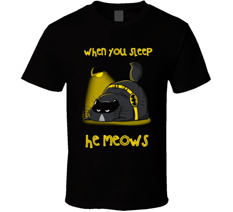 The Batcat Cat, Batcat, Cute, Kitty, Cartoon, Kitten T Shirt