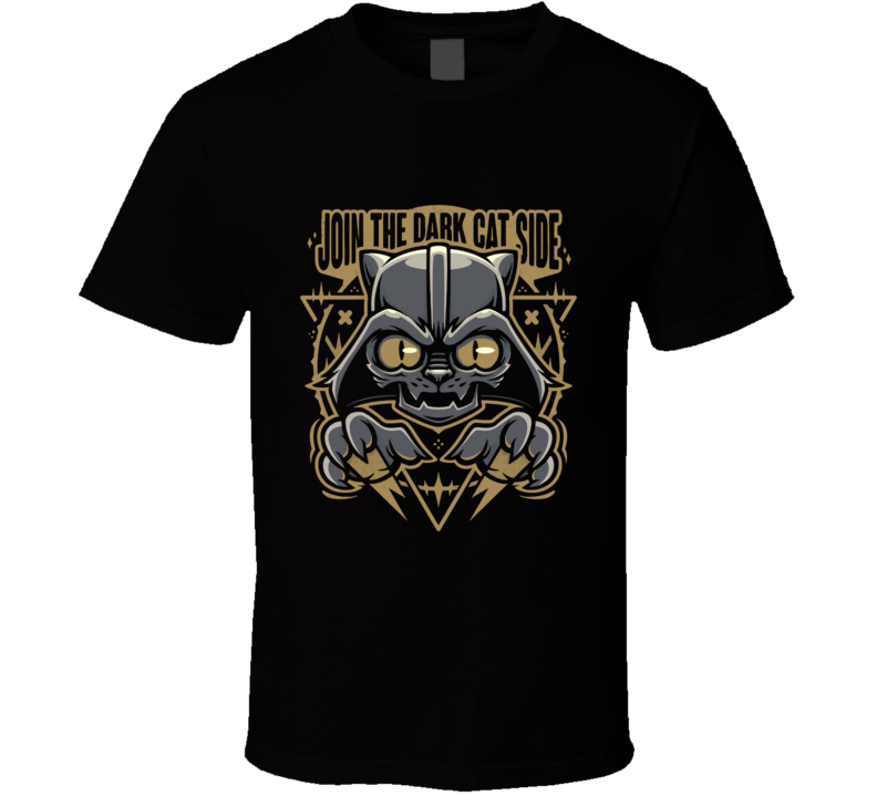The Dark Cat Side Cat, Cute, Dark Side, Fun, Humor, Funny, Cartoon T Shirt