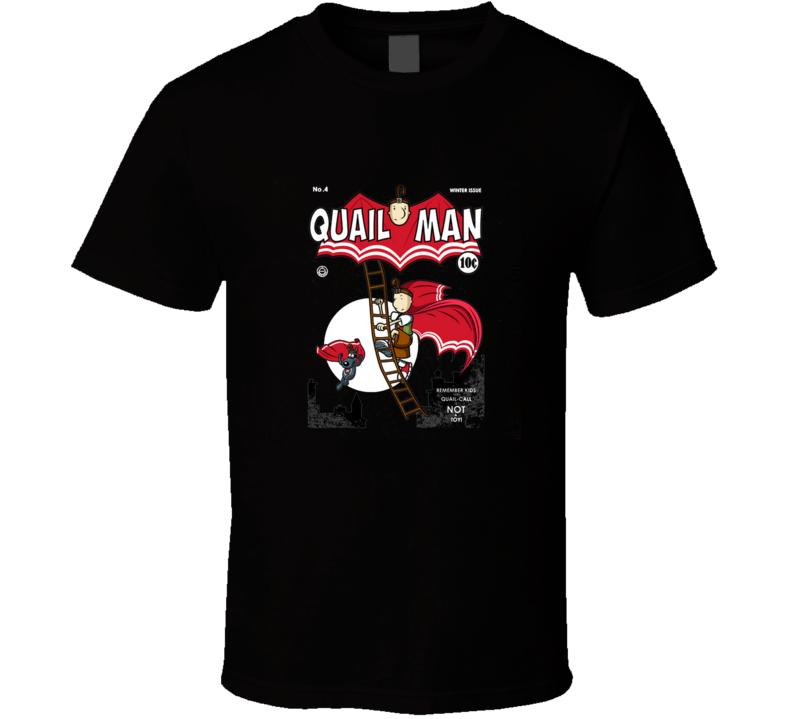 The Dark Quail Quail, Man, Bat, Comic, Cartoon, Quailman, Tv T Shirt