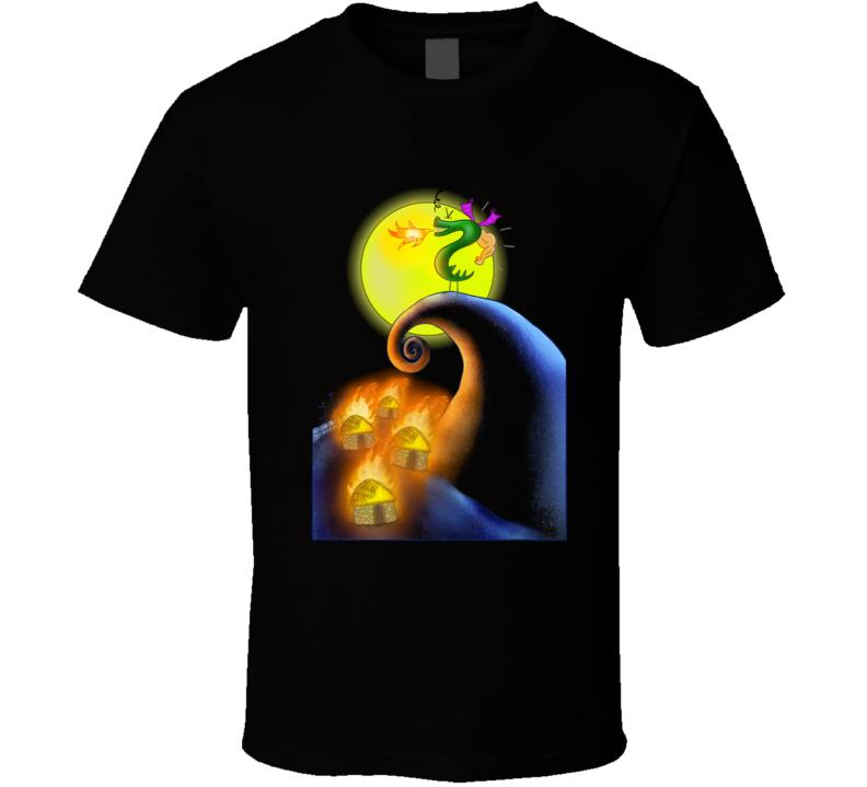 The Burnination Before Christmas Dragon, Nightmare, Christmas, Funny, Cartoon, Dragons, Halloween, Trogdor T Shirt