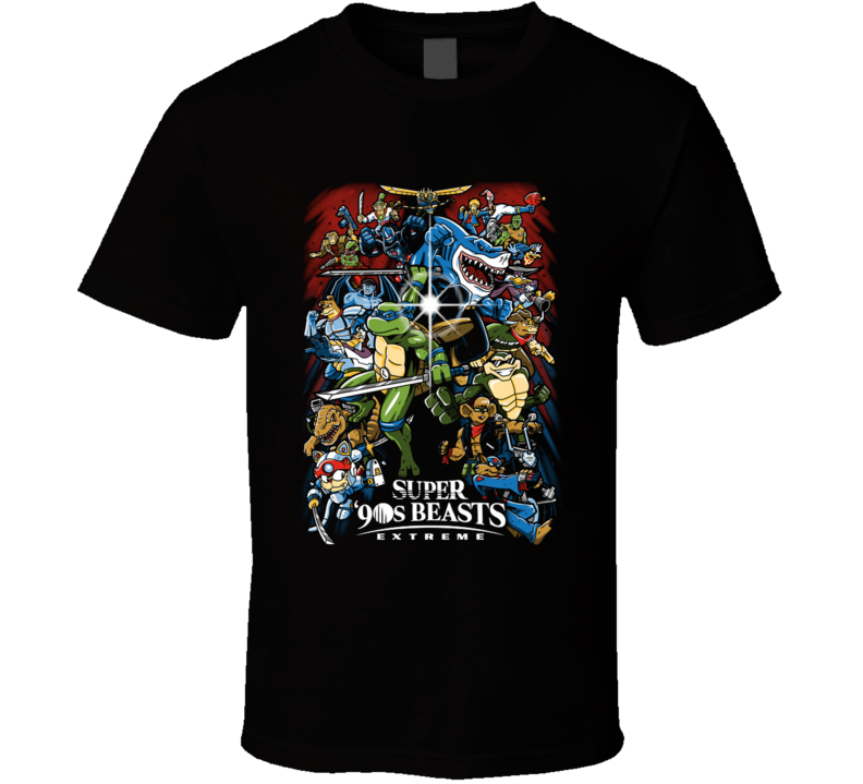 Super 90s Beasts 90s, Nostalgia, Cartoon, Animal, Superhero, Fighting Game, Video Game T Shirt