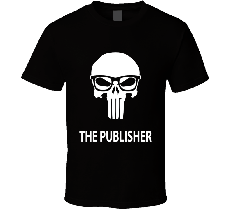 The Publisher Skull, Parody, Comic Books, Geek, Funny T Shirt