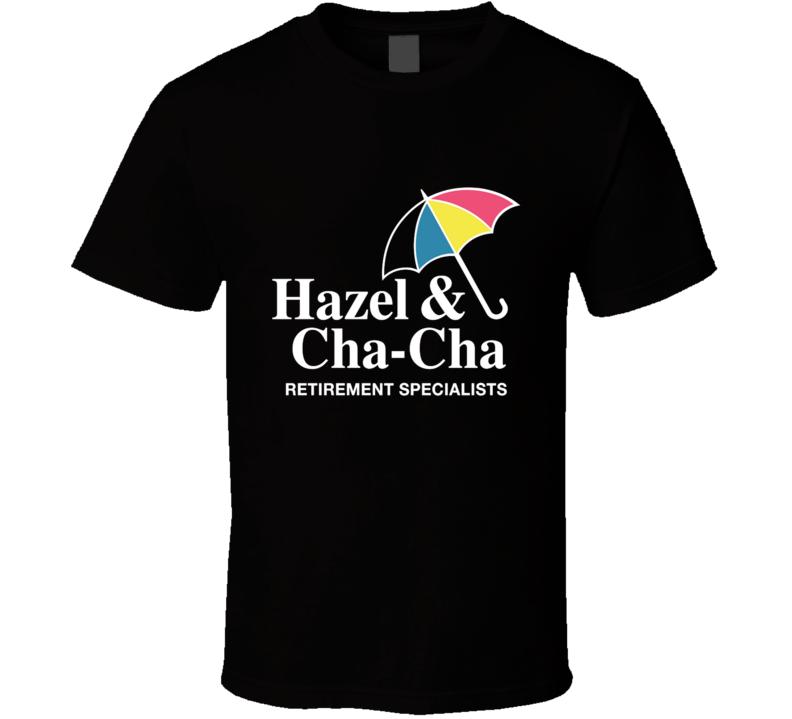 Umbrella Retirement Specialists - Hitmen - Funny Parody Umbrella Academy, Hitmen, Hazel, Cha Cha, Comic Books, Cult Tv, Parody T Shirt