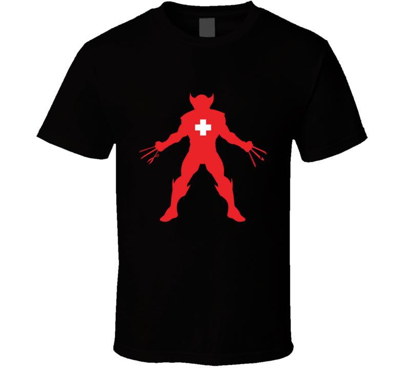 Weapon Swiss Weapon X, Comics, Swiss Army, Parody T Shirt