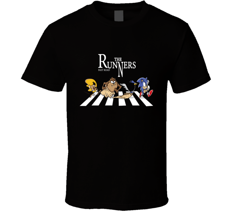 The Runners Speedy Gonzales, Sonic The Hedgehog, Road Runner, Tazmanian Devil T Shirt