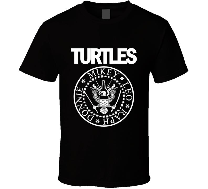 Turtles Rock T-shirt Parody, Leo, Mikey, Raph, Donnie. T Shirt