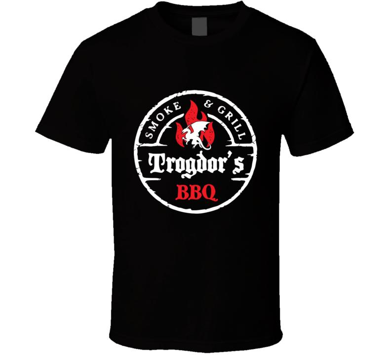 Trogdor's Bbq  Trogdor, Strong Bad, Dragon, Burninator, Bbq, Food T Shirt