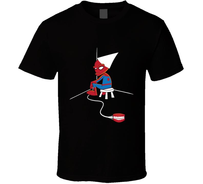 Webslinging Dunce  Spiderboy, Webslinger, Dunce Cap, Karma, Dentures, Parody, Prank T Shirt