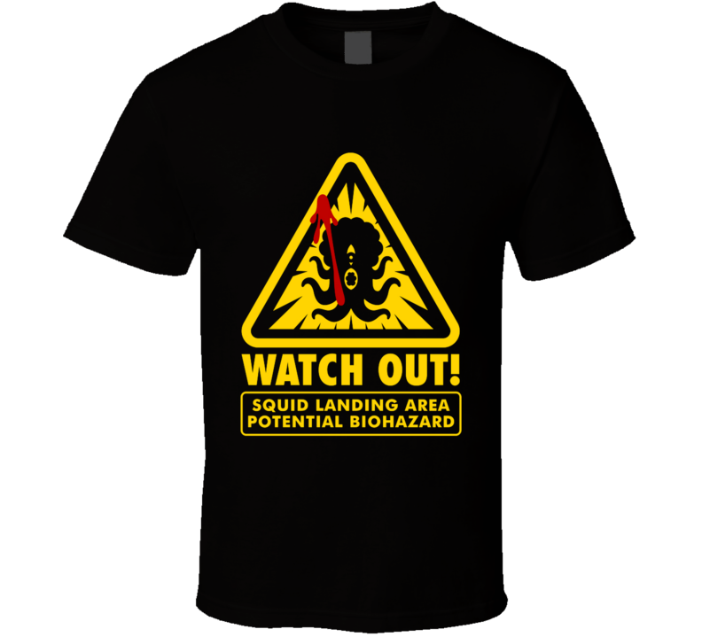 Watch Out! Comic, Superhero, Squid, Retro T Shirt