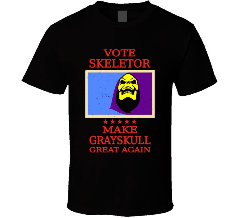 Vote Skeletor T Shirt