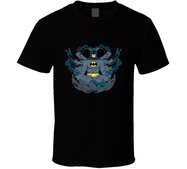 The Meditating Bat  Gotham, Yoga, Meditation, Chakra, Zen, Bruce Wayne T Shirt