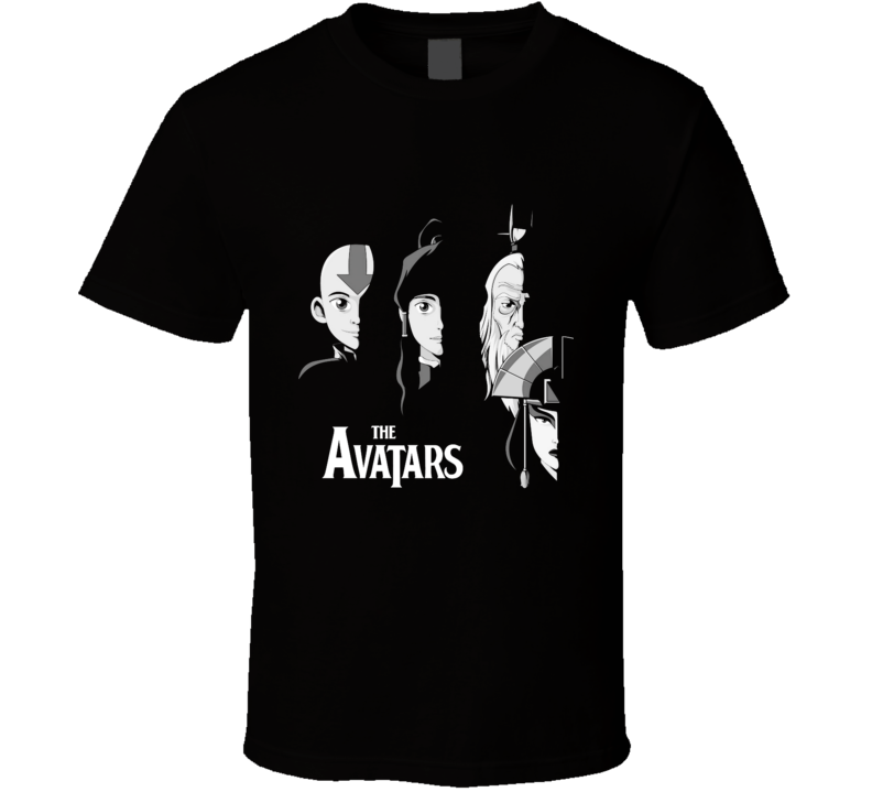 With The Avatars The Avatars, The Last Airbender, Aang, Music T Shirt
