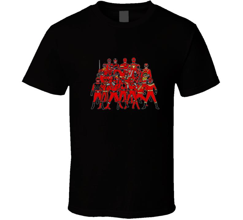 The Power Of Red Rangers, Power Rangers Mmpr, Super Sentai T Shirt