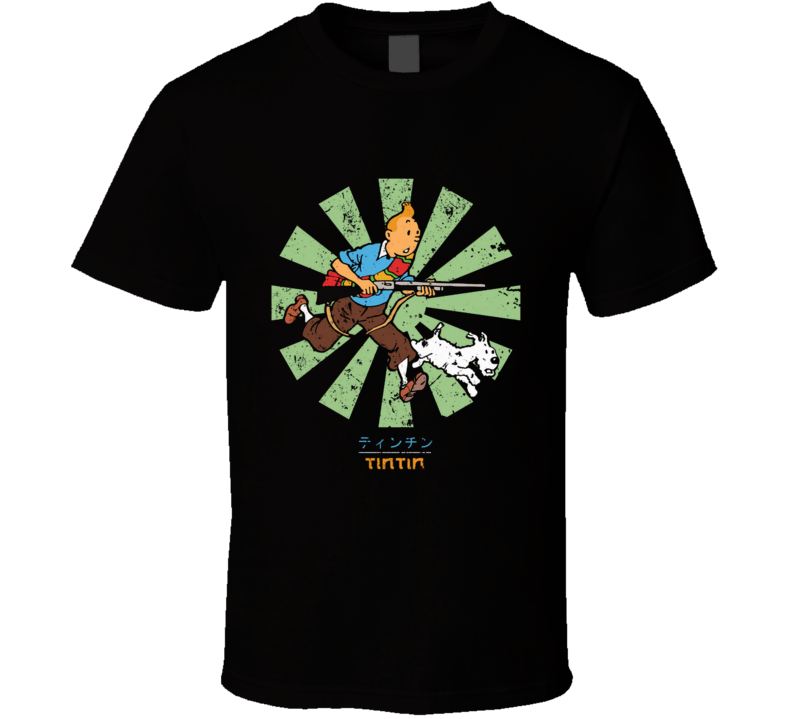Tintin Retro Japanese Snowy, Captain Haddock, Adventures, Professor Calculus, Thomson And Thompson, Tin, Comic T Shirt
