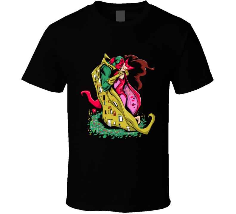 The Marvelous Kiss Vision, Witch, Scarlet, Comics, Wanda, The Kiss, Klimt, Love T Shirt