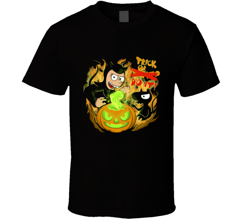 Trick, Do It! Trick, Treat, Halloween, Lucy, Bean, Disenchanted, Cartoon T Shirt