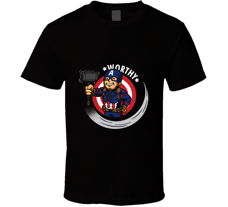 Vault Worthy Endgame, Steve Rogers, Gaming, Pop Culture, Geek T Shirt