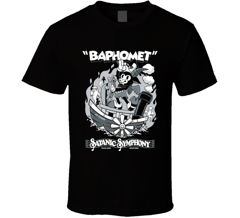 Vintage Cartoon Baphomet - Steamboat Baphy - Occult - Satanic Symphony  Occult, Goth, Creepy Cute, Witchcraft, Cartoon, Baphomet, Satanic, Vintage T Shirt