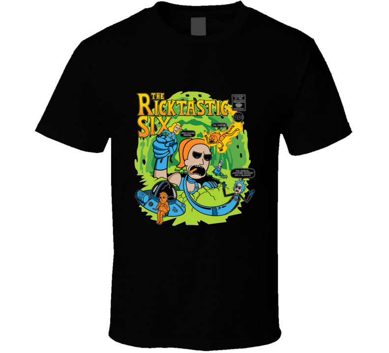 The Ricktastic 6 Rick, Morty, Parody, Fantastic, Drunk, Science, On Sale T Shirt