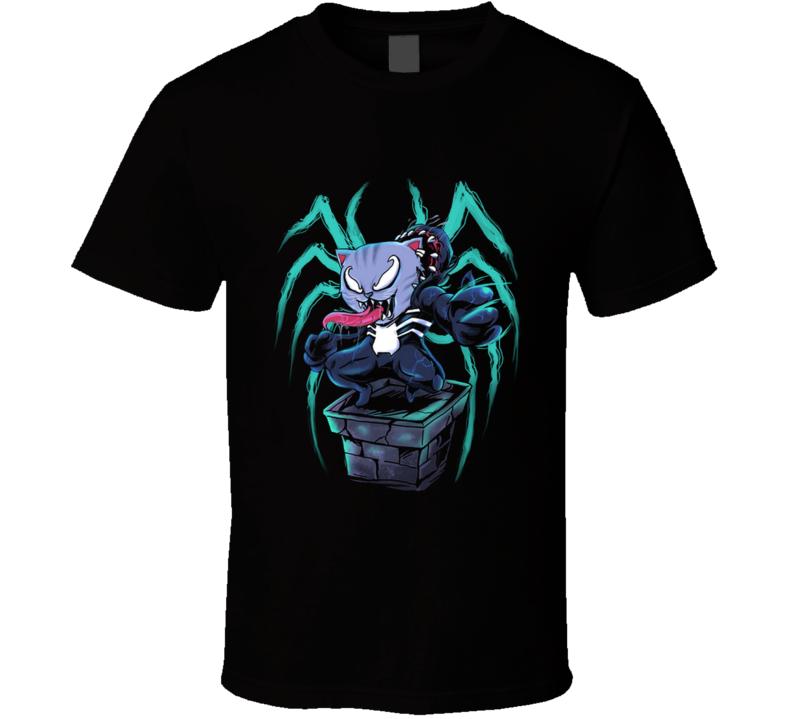 Venomkitty Spider, Cat, Pussy, Superhero, Cute, Kawaii, Dope T Shirt