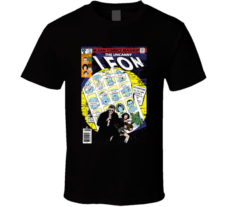 The Uncanny Leon Leon, Professional, Killer, Jean Reno, Natalie Portman, Mathilda, Comic T Shirt