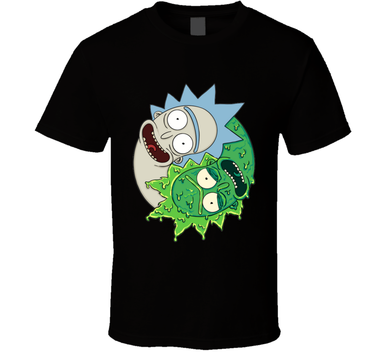 Yinyang Of Rick  Sci-fi, Geek, Funny, Humor, Yinyang, Yoga, Cartoon T Shirt