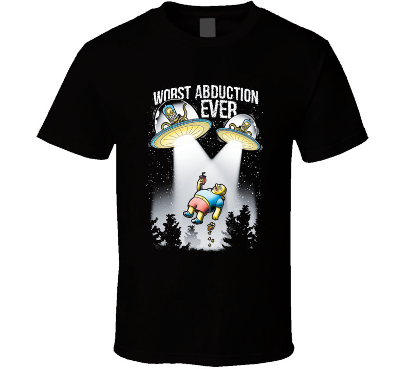 Worst Abduction Ever Yellow, Extraterrestial, Ufo, Abduction, Cartoon, Tvshow T Shirt