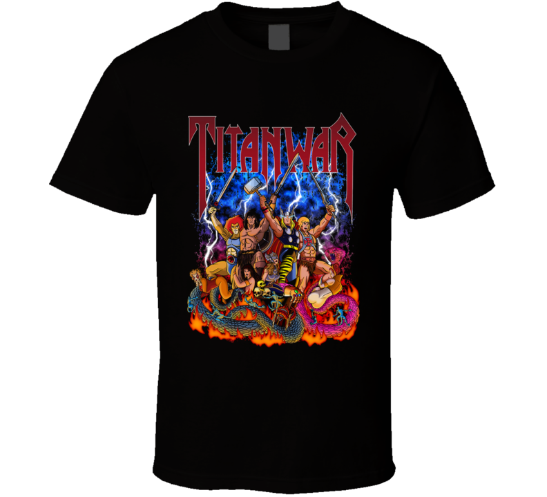 Titan War Conan, Thundercats, Comic, Cartoon, 80s, Music T Shirt