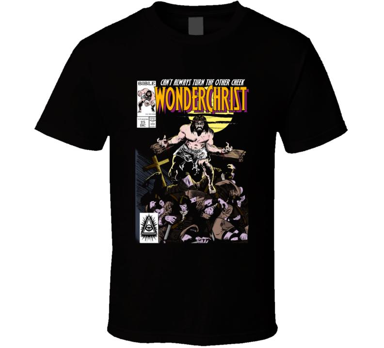 Wonderchrist N1 Christ, Jesus, Religion, Killer, Revenge, Buscema, Comic T Shirt