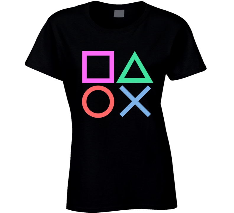 Playstation Buttons Ladies T Shirt