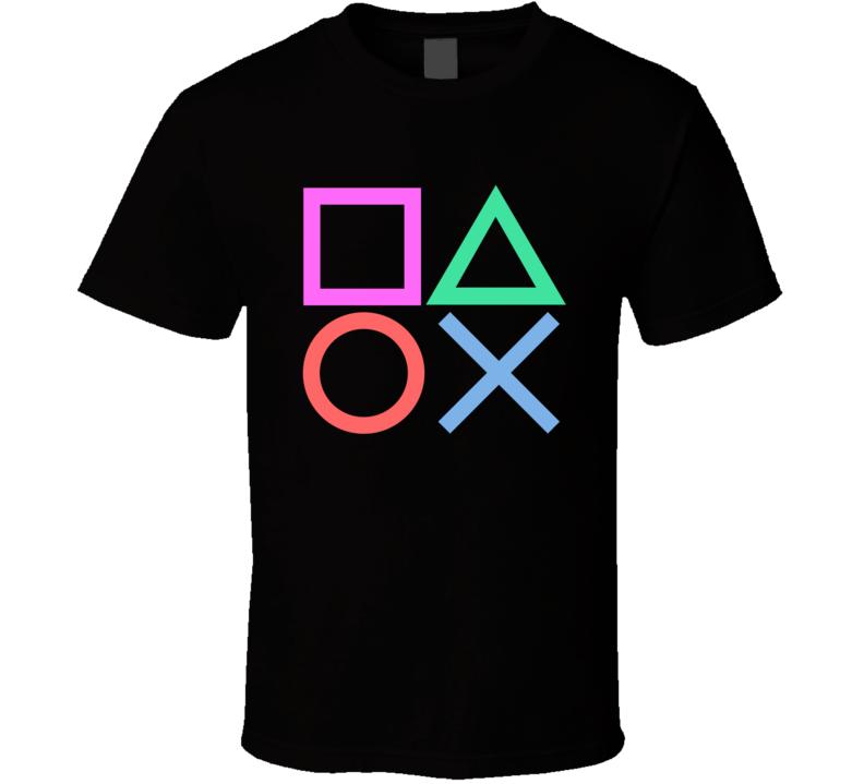 Playstation Buttons  T Shirt