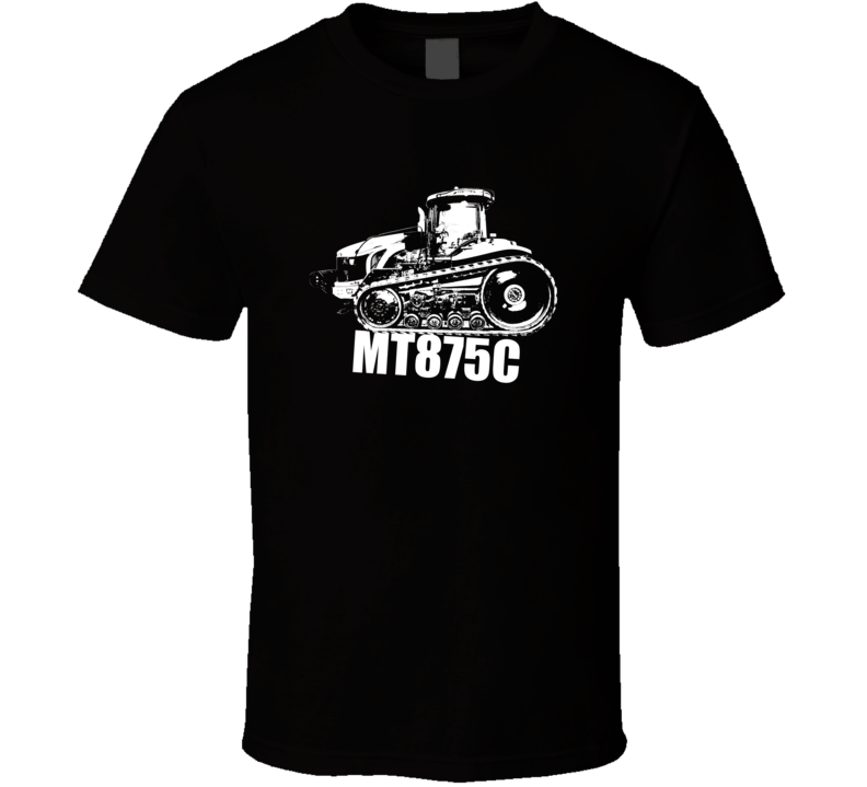 MT875C Tractor Side View With Model Dark Color T Shirt