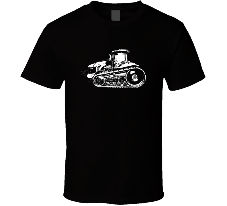 MT875C Tractor Side View Dark Color T Shirt