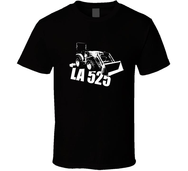 LA525 Allis Tractor Side View With Model Dark Color TShirt