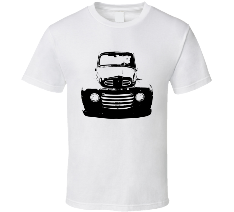 1950 F100 Pickup Truck Grill View White T Shirt