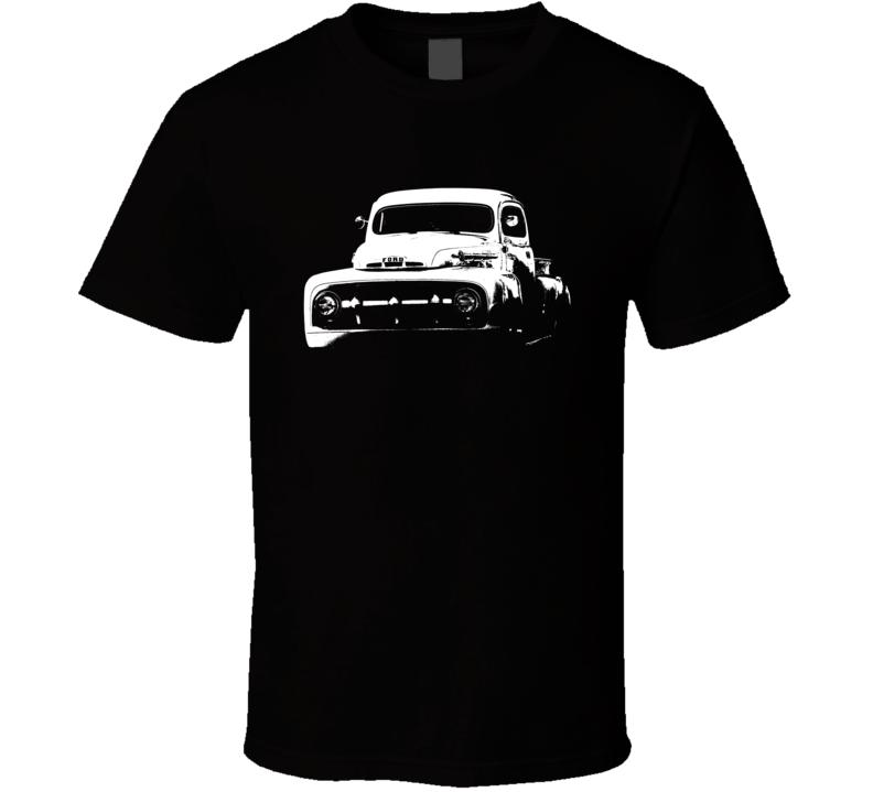 1951 F100 Three Quarter Side View Black T Shirt