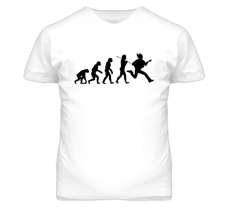 Evolution of Man Electric Guitar Funny T Shirt