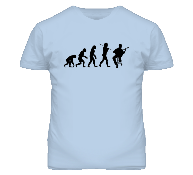 Evolution of Man to Classical Guitar Player Funny Guitarist T Shirt